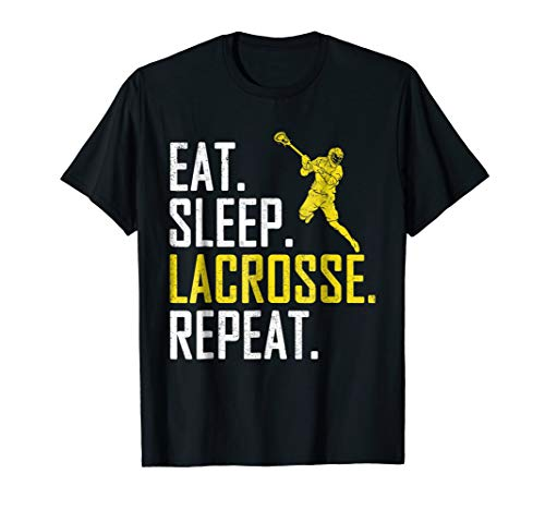 Eat Sleep Lacrosse Repeat Sports Team Game Gift T-Shirt -