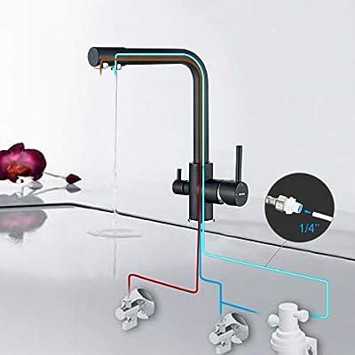 GRIFEMA Dover - Grifo de cocina osmosis, 3 en 1 para purificador de filtro de agua y fregadero de cocina: Amazon.es: Bricolaje y herramientas