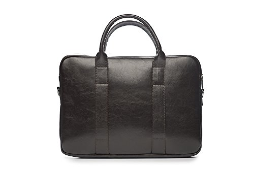 Solier para hombre piel auténtica bolsa de hombro portátil Macbook Premium edynburg SL20 negro 40 x 30 x 5 cm marrón