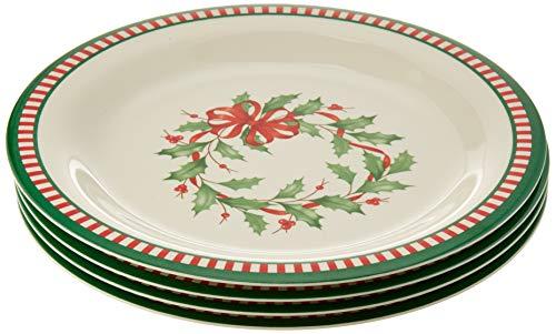 Lenox 880213 Holiday Melamine Dinner Plates, Multicolor