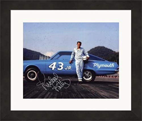 (Richard Petty Autographed Photo - 8x10 Racing) #34 Matted & Framed - Autographed NASCAR Photos)