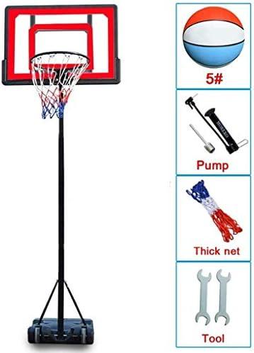JINDEN ポータブル高さ調節可能なバスケットボールフープスタンド、バスケットボールの目標ホイール付き屋内/屋外