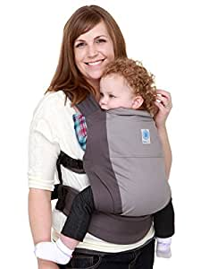 Moby Wrap Baby Carrier, Go Pocket Gray