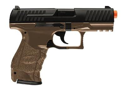 walther ppq spring airsoft pistol, dark earth brown(Airsoft Gun)