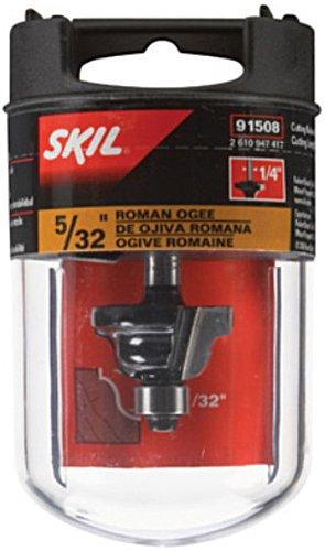 SKIL 91508 5/32-Inch Roman Ogee, 3/8-Inch BB 2F 1/4-Inch Shank
