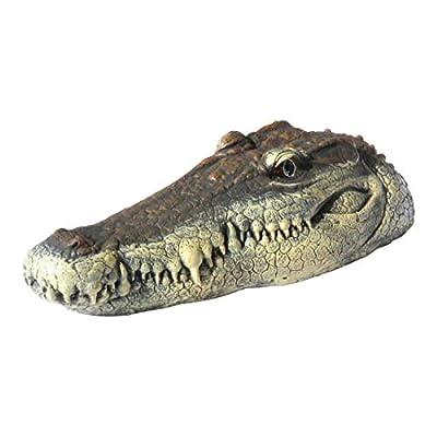 RICH RC Crocodile Boat,Alligator Head Decoy,Floating Detailed Crocodile Head,Garden Art or Decoy for Water, Pools and Ponds Black 3.7V(31.3 14.4 12.5 cm): Garden & Outdoor