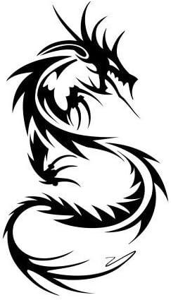 Tribal Tattoo Chinesischer Drache Aufkleber Autoaufkleber Sticker Auto Bonus Testaufkleber Estrellina Glückstern Gedruckte Montageanleitung Von Myrockshirt Waschanlagenfest Auto
