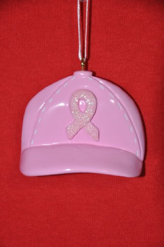(Personalized Christmas Ornament - Pink Ribbon Hat)