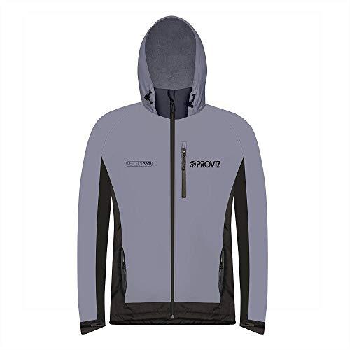 Jacket Windstopper Shell - Proviz Men's REFLECT360 Fleece-Lined 100% Reflective & Waterproof Outdoor Jacket, XXXL