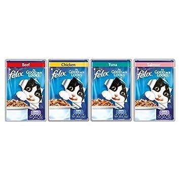 Felix As Good As It Looks - Comida para Gatos variada (100 g, 120 Unidades): Amazon.es: Productos para mascotas