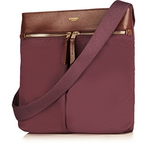 Knomo Luggage Tilney 8 Cross Body 10.2 X 9.8 X 1.6, Aubergine, One Size