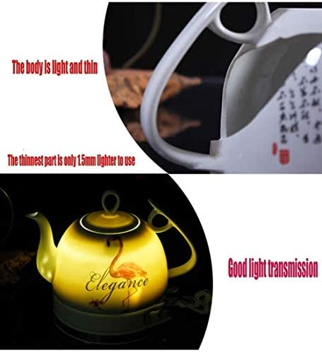 1L Ceramic Electric Kettle, Draadloze automatisch uitschakelen, Verwisselbare Base Droogkookbeveiliging kookt Water, Fast for Koffie- Soup havermout, 1000W.