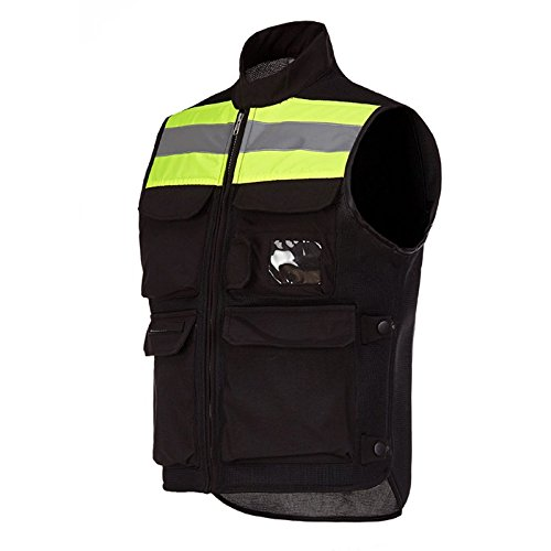 A.B Crew Reflective Motorcycle Biker Vest with Pockets High Visibility Base Safety Vest for Cycling Sport Street Racing, Green XL by A.B Crew (Image #4)