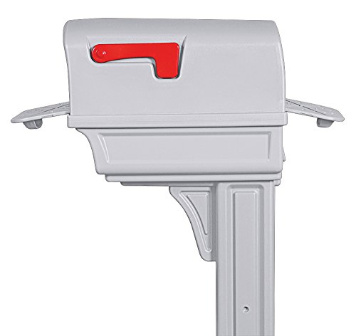 Gibraltar Mailboxes Gentry Large Capacity Double-Walled Plastic White, All-In-One Mailbox & Post Combo Kit, GGC1W0000 by Gibraltar Mailboxes (Image #3)