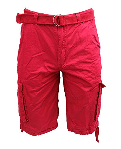 Tank Men's Light Twill Cargo Shorts, Red, 52 ()