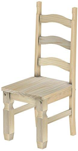 Massivholz Stuhl Mexiko - Farbton Unbehandelt - Pinien Echtholz- und ...
