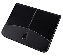 Jancosta CT1 A4 Letter Size Executive Zippered Padfolio (Black)