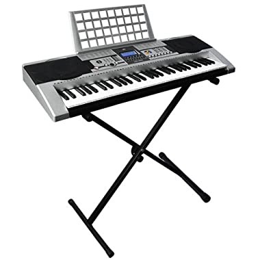 Best Choice Products 61 Key Music Electronic Keyboard Piano With X Stand LCD Display Screen