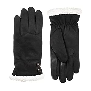isotoner Women's Microfiber Touchscreen  Texting Warm Lined Gloves with Water Repellent Technology