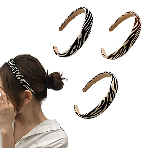 Aldqtz 3 Packs Leopard Fashion Headbands for Women Girl Cute Curly Hair Styling Holiday Hair Bands Accessories for Women Girl