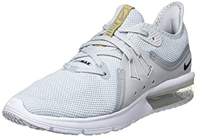 Nike Women's Air Max Sequent 3 Running Shoe Pure Platinum/Black/White Size 5.5 M US