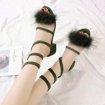dei grezzi in yalanshop estate nudi Le dita le si e piedi donne i portano sandali green con X7Hx7pTA