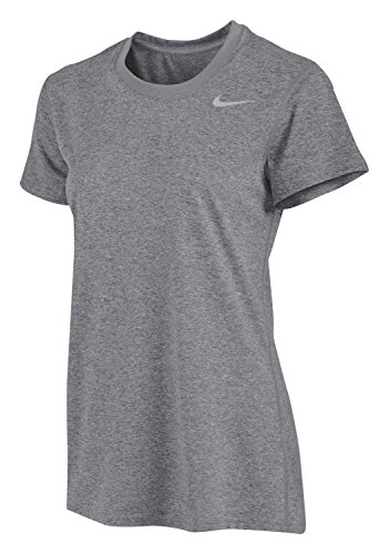 Nike Women's Dri-Fit Legend Short Sleeve T-Shirt (Large, Gray)