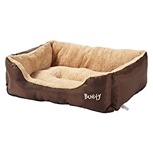 Bunty Deluxe Luxury Soft Fleece Lined Washable Pet / Dog Bed (X-Large, Brown)
