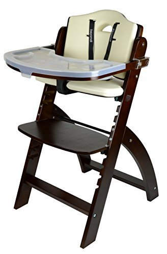 Abiie Beyond Wooden High Chair with Tray. The Perfect Seatin