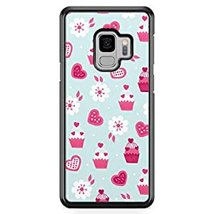 Samsung S9 Transparent Edge Case Valentines Teddy Bear Love Heart Gift Ribbon Pattern Cute Design Low Profile Scratch Resistant Samsung S9 Transparent Edge Cover