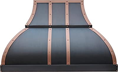 Stove Hood Copper Best H1 362130S Ducted Copper Range Hood for 30in or 36in Oven, Wall Mounted 660CFM Vent