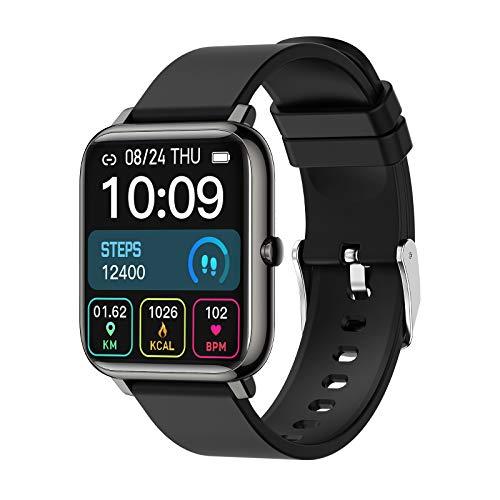 Smartwatch, Pantalla Táctil de 1.4″, Relojes Inteligentes Impermeable IP67 para Mujer Hombre niños, Reloj de Fitness con Monitor de Sueño Pulsómetro Cronómetros Calorías Podómetro Fotografía Remota
