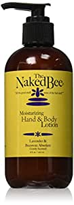 The Naked Bee Moisturizing Hand & Body Lotion, 8 Ounce, Lavender & Beeswax Absolute