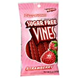 Vines Sugar Free Red Original Licorice Twists 5 Ounce Theater Size Pack 1 Pouch