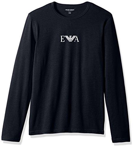 Colored Thermal Underwear - Emporio Armani Men's Stretch Cotton Multipack L/s Crew T-Shirt, Marine, L