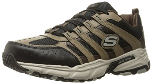 Skechers Sport Men's Stamina PlusRappel Oxford Sneaker, Brown/Black, 10.5 M US