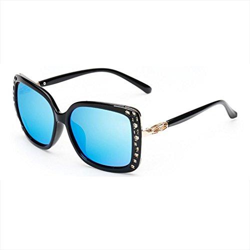 calientes frame Models libre Genuine Lens Gafas ice Black Eye Gafas aire UV ice blue WLHW Frame Big de Color Retro UV al Juego sol Explosion de blue frame sol femeninas Polarizadas Black xBPx4wnq0