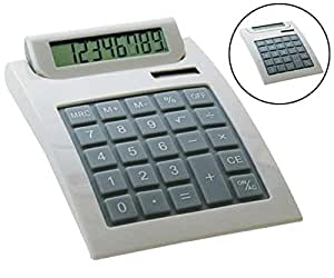 M-juego de mesa 10390 una D. Diseño-calculadora blanco brillante, 8-dígitos matriz de puntos-display, %, OFF
