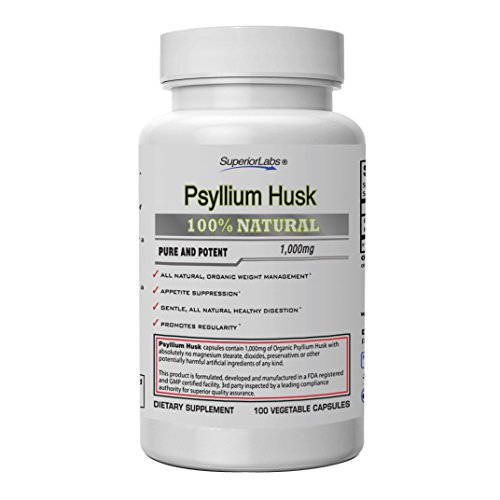 Superior Labs – Psyllium Husk – All-Natural Fiber Dietary Supplement, Helps Support Intestinal Health and Normal Healthy Digestive Function, Promotes Regularity and Healthy Weight Management by Superior Labs