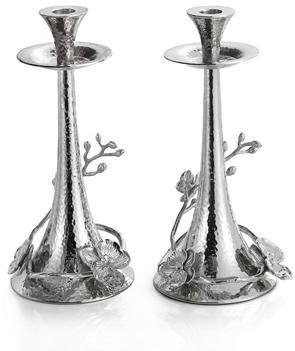 Michael Aram White Orchid Candleholders by Michael Aram