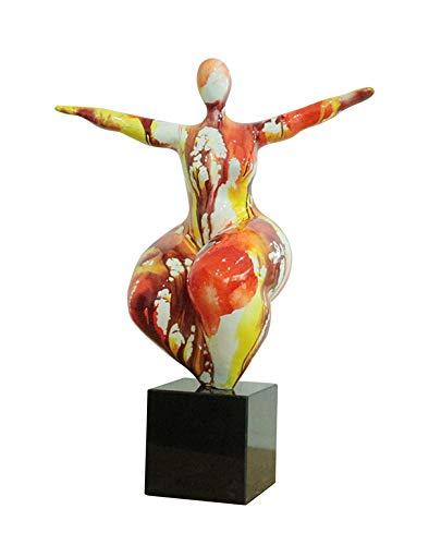 Meubletmoi Escultura Mujer 56 cm Postura Yoga Equilibrio ...