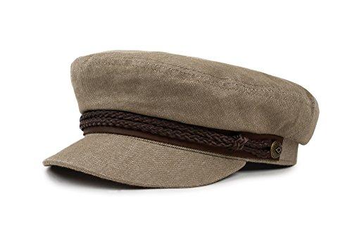 Motorcycle Hat (Brixton Men's Fiddler Greek Fisherman Hat, Sage, Medium)