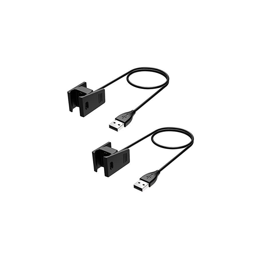 Cablor Charger For Fitbit Charge 2 Pcs Replacement Usb Charging Wiring Cables