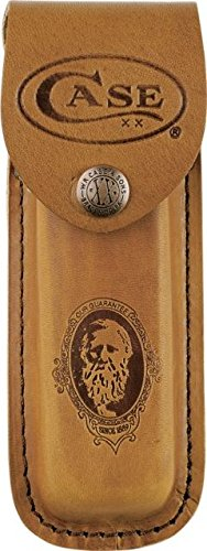 Case Job Case Portrait Leather Sheath fits Pocketknives up