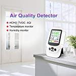 JSX Air Quality Analysis Tester,HCHO TVOC PM2.5 PM1.0 PM10 Detector Gas AQI Gas Detector Analyzer Measuring Tool Smog Meter