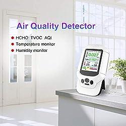 JSX Air Quality Analysis Tester,HCHO TVOC PM2.5 PM1.0 PM10 Detector Gas AQI Gas Detector Analyzer Measuring Tool Smog Meter