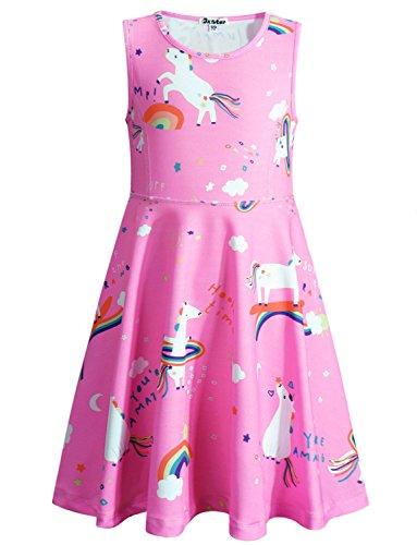 Jxstar Girls Dress Unicorn Trojan Dress 160 ()