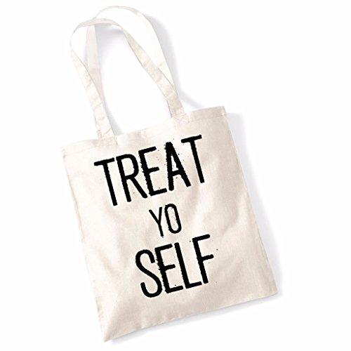 Printed Tote Bag Slogan Women's Gift Idea 100% Cotton