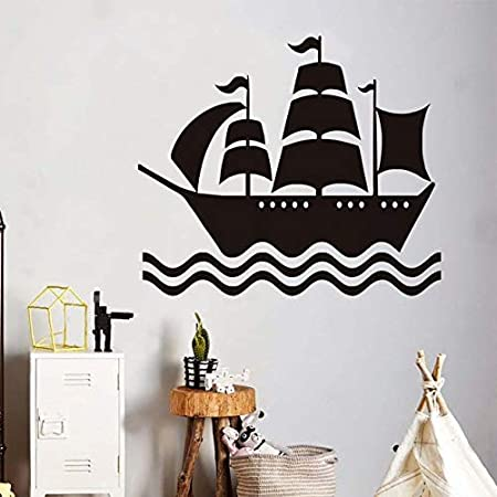 YXWYL Habitación de los niños Decoración Barco Pirata Tatuajes de ...