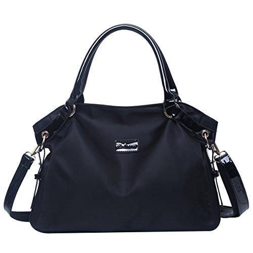 (Eshow Women Canvas Shoulder Bag Hobo Handbags and Purse Cross-Body Bag Messenger Bag Travel mom bag for women)